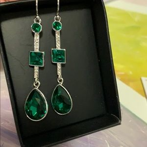 🆕 Green Statement Earrings ✨